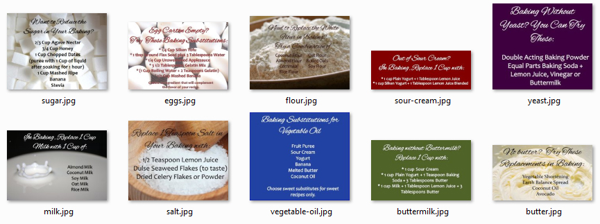 Baking Substitutions Graphics