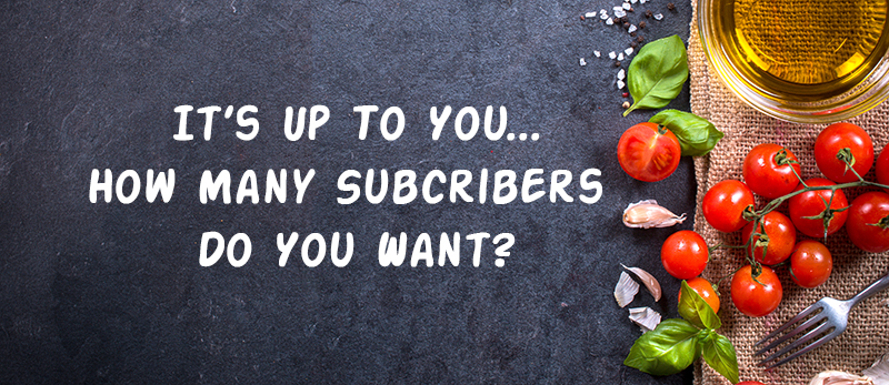 How many food list subscribers do you want?