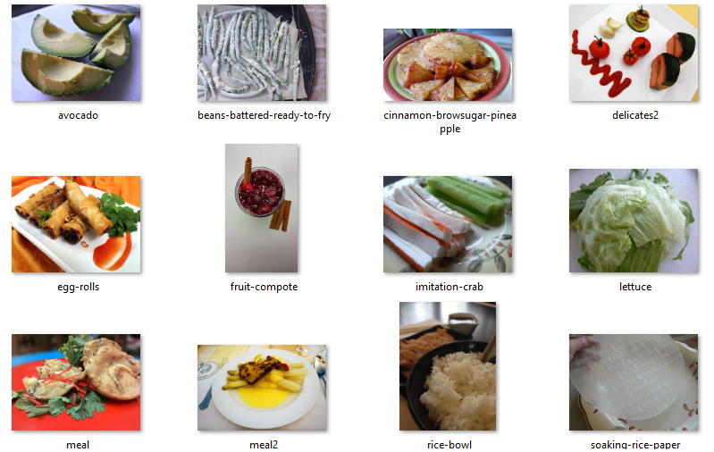 Random Food Photos Included