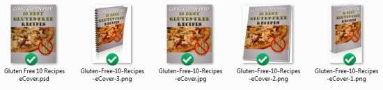Gluten-Free Recipe Book Ecovers