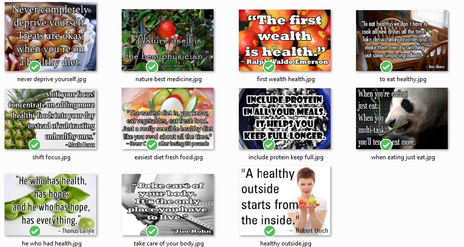 Healthy Eating Photo Pack