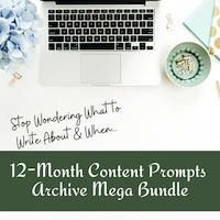 12 Month Content Prompts Archive Bundle