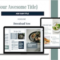 Canva Recipe Book & Social Media Templates