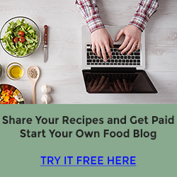 Share Recipes and Get Paid 250 x 250 banner